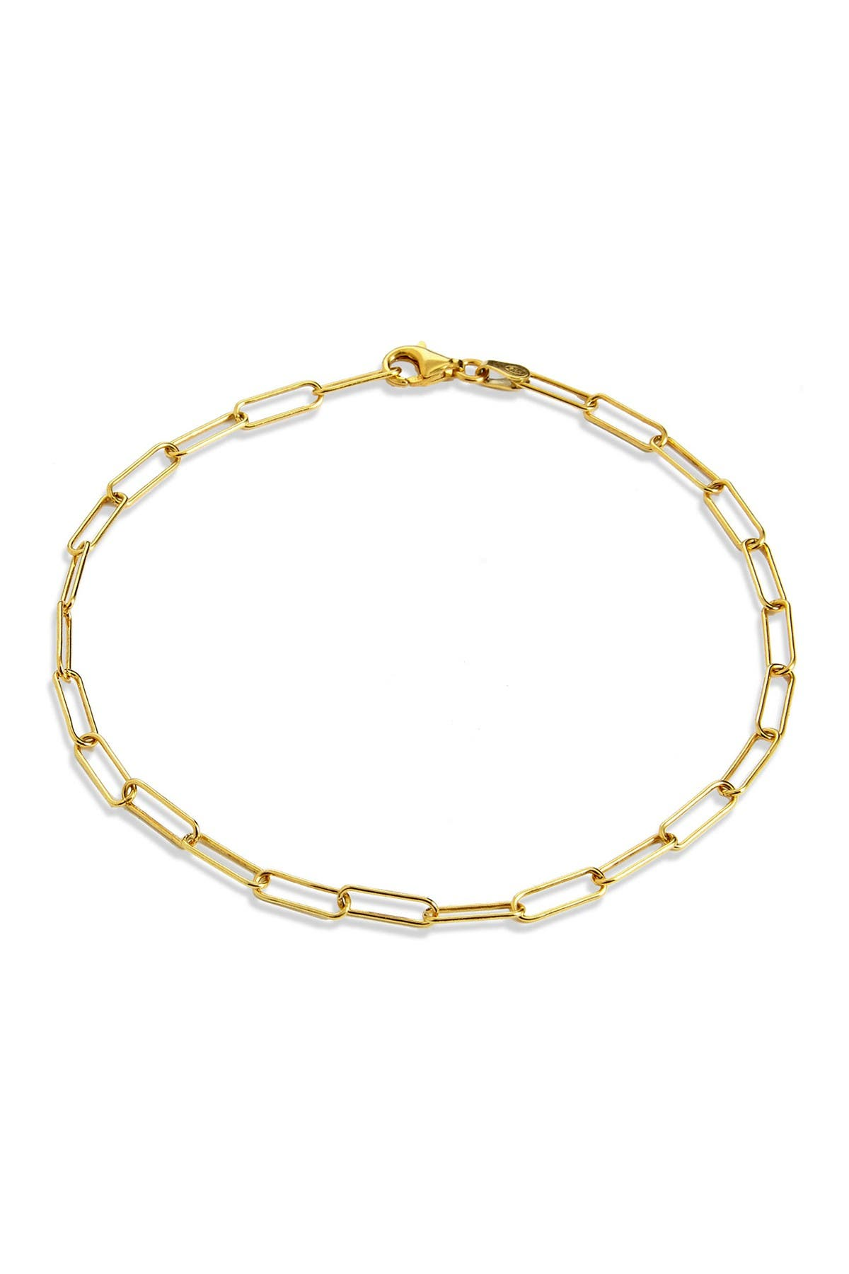 Image of Savvy Cie 18K Italian Yellow Gold Vermeil Chain Link Anklet