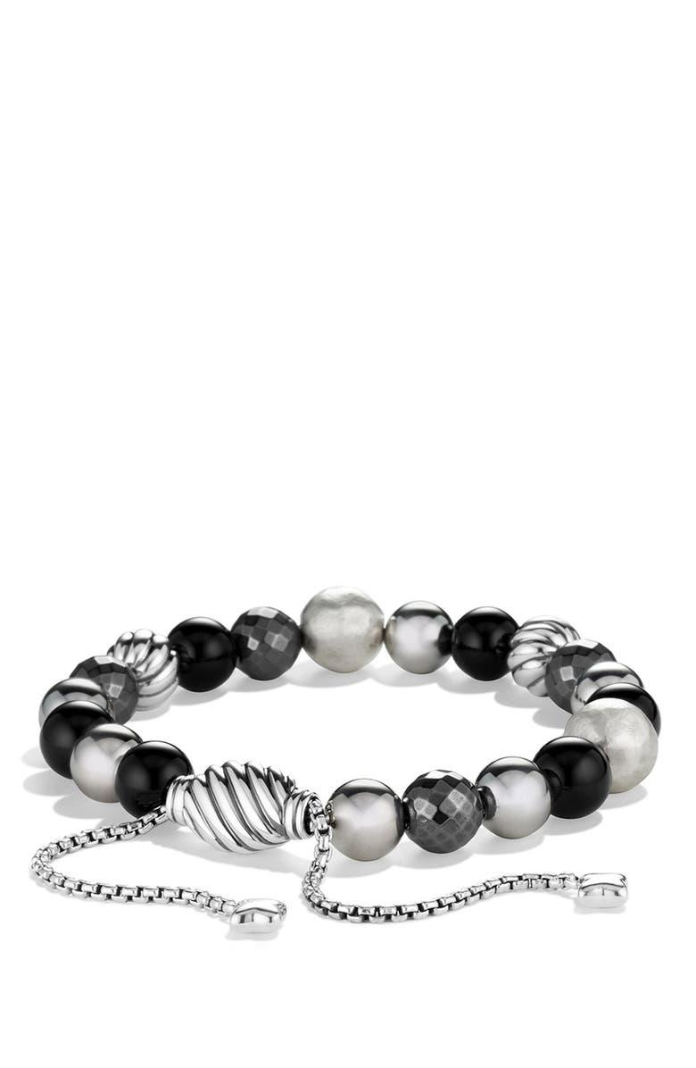 DAVID YURMAN 'DY Elements' Bead Bracelet, Main, color, BLACK ONYX
