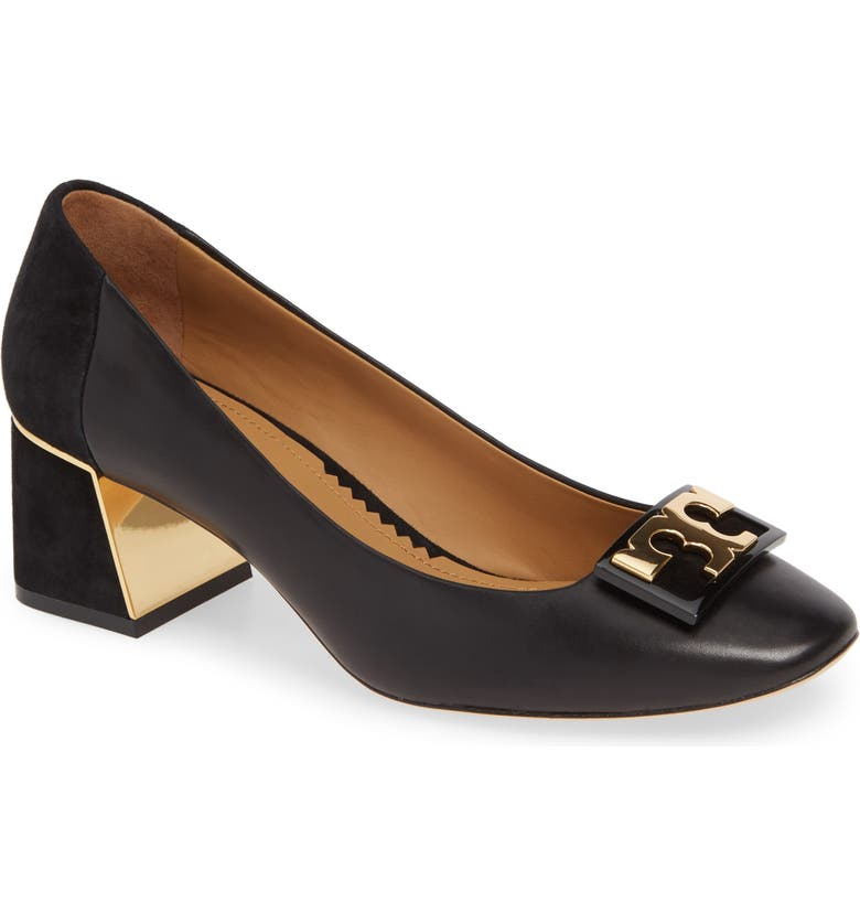 TORY BURCH Gigi T Logo Pump, Main, color, PERFECT BLACK/ PERFECT BLACK