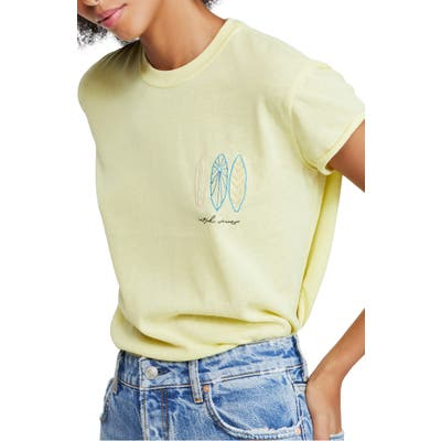 Free People Wipe Out Graphic Tee, Green