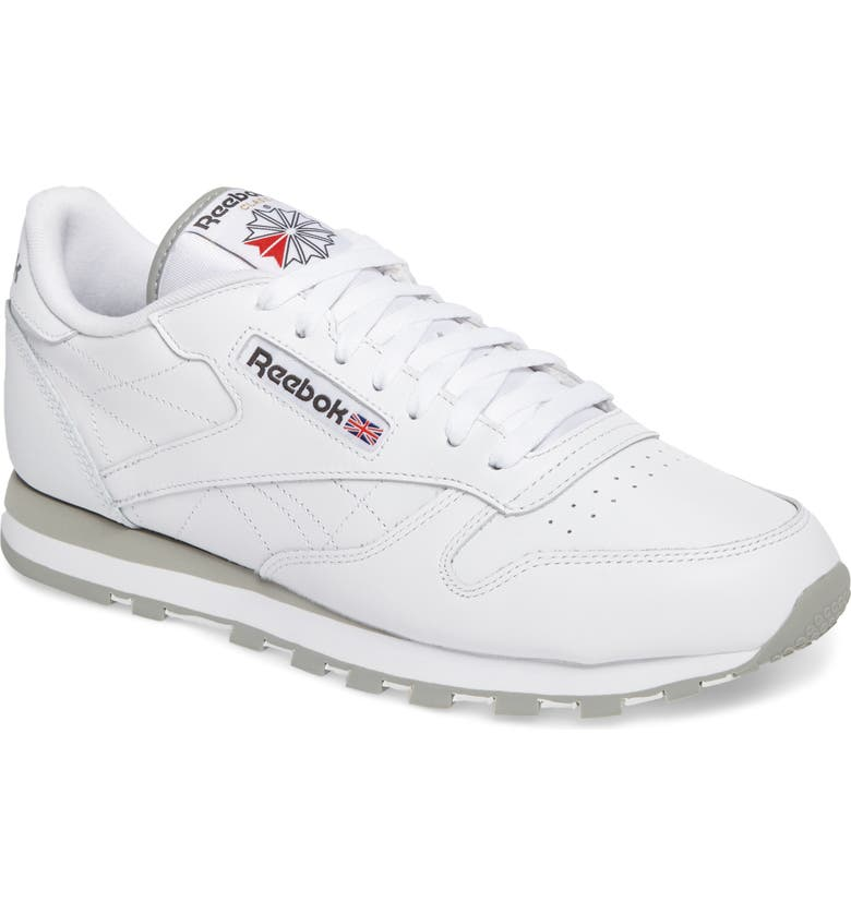 REEBOK Classic Leather Sneaker, Main, color, 101