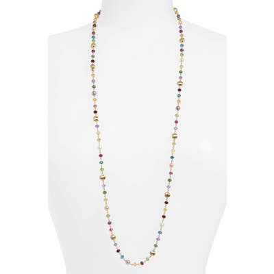 Marco Bicego Africa Semiprecious Stone & Pearl Long Necklace