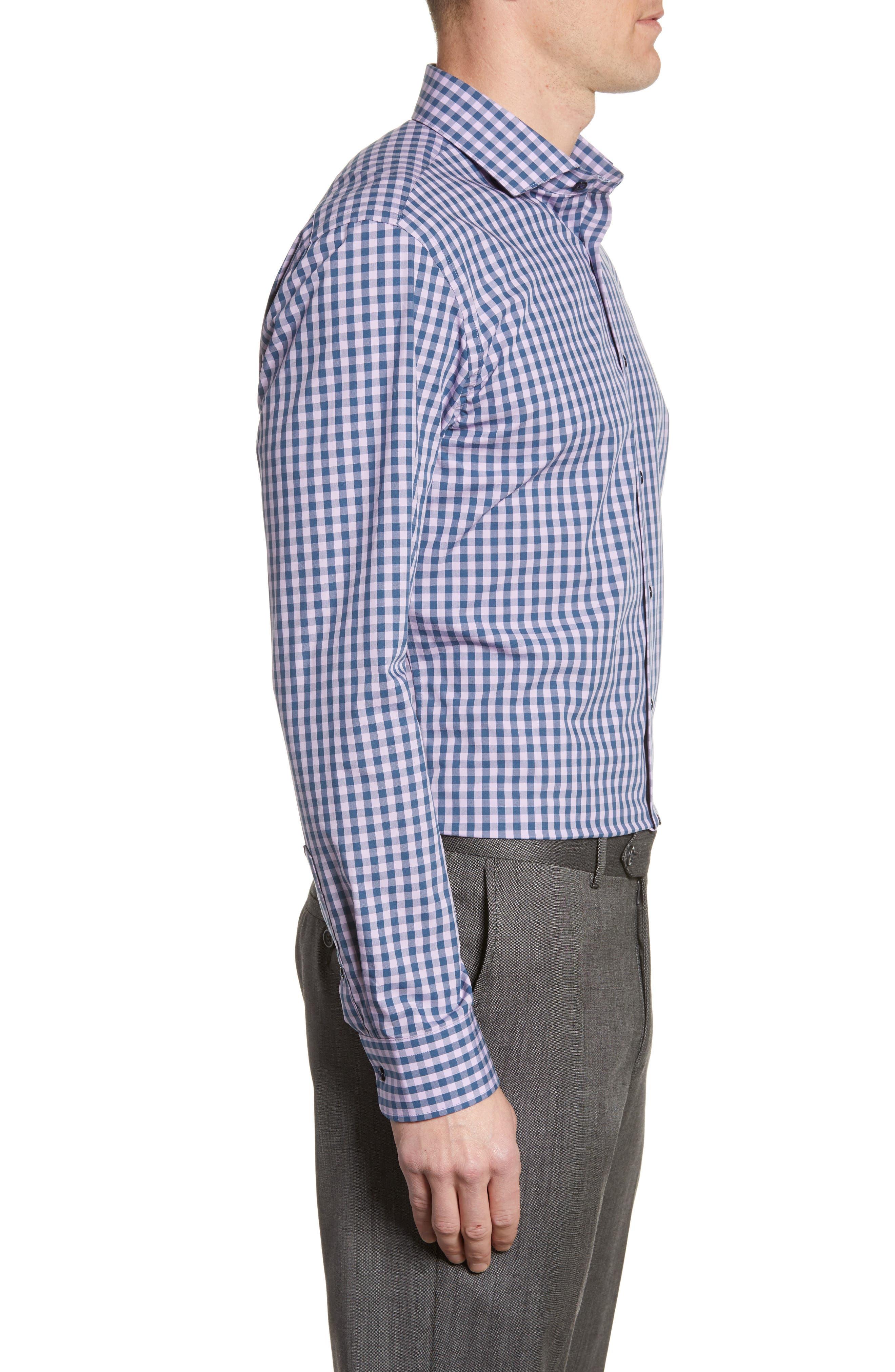 ,                             Tech-Smart Trim Fit Stretch Check Dress Shirt,                             Alternate thumbnail 42, color,                             510