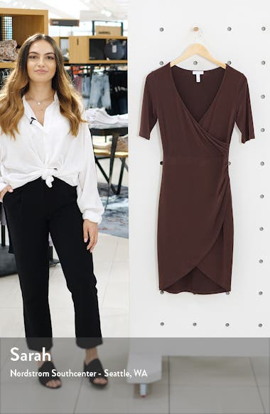 Ruched Wrap Body-Con Dress, sales video thumbnail