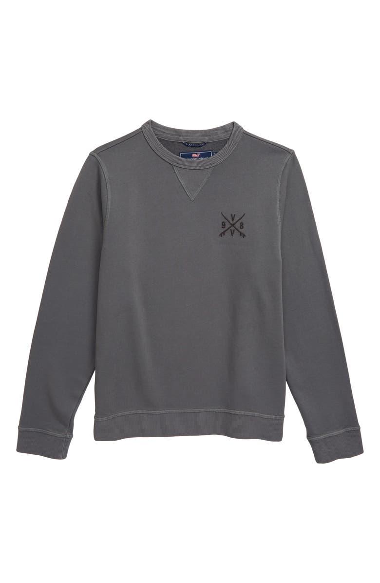 VINEYARD VINES Garment Dye Crewneck Sweatshirt, Main, color, 050