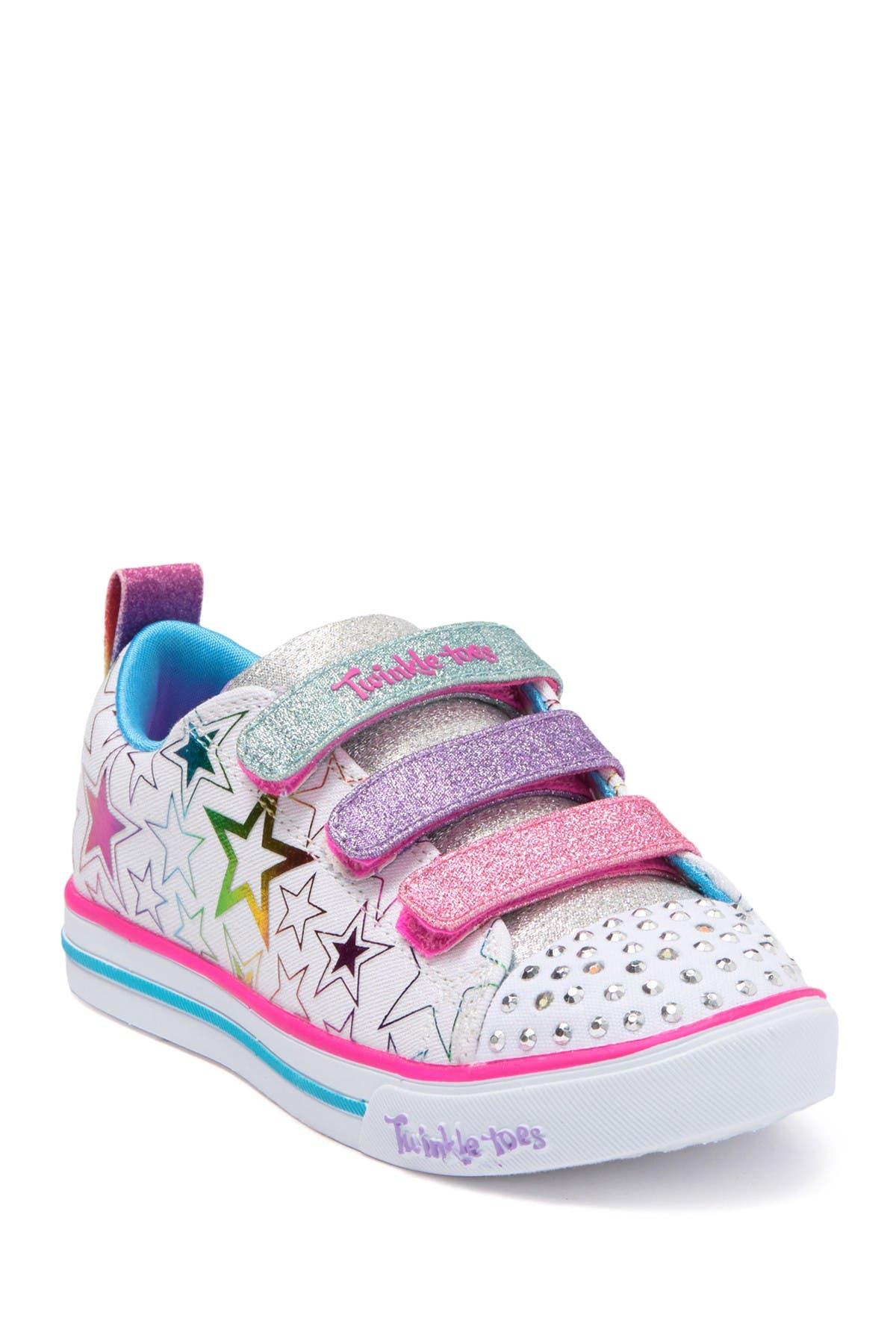 Los invitados con las manos en la masa Envolver  Skechers | Twinkle Toes Sparkle Lite Stars The Limit Sneaker | Nordstrom  Rack
