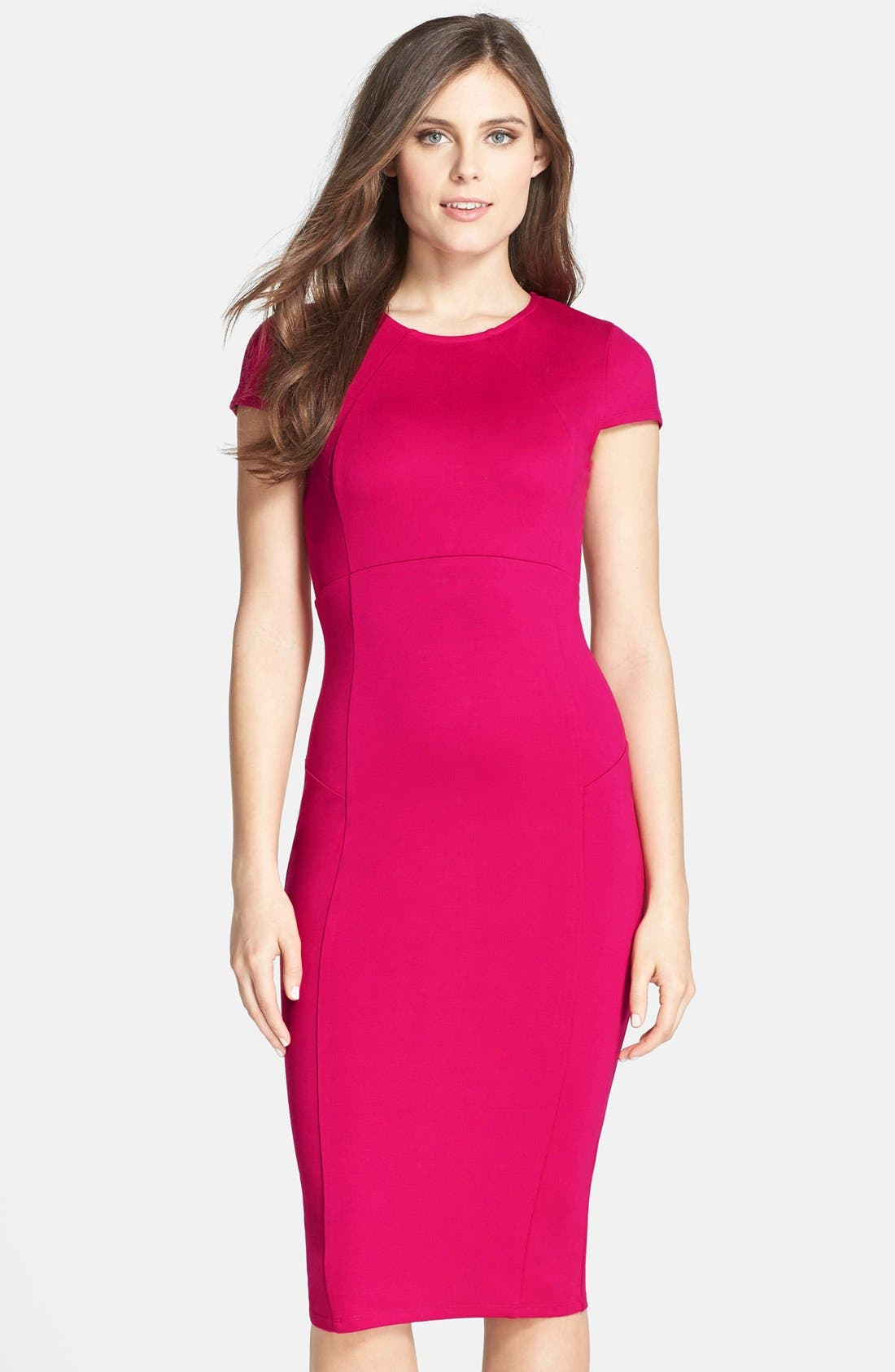 ,                             Ward Seamed Pencil Dress,                             Main thumbnail 60, color,                             668