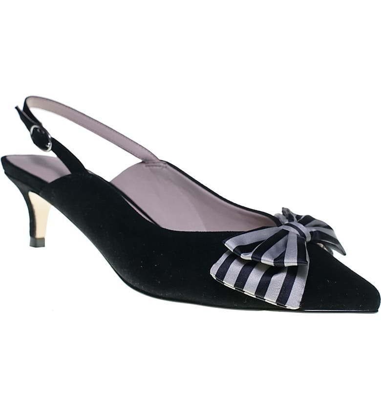 CUPCAKES AND CASHMERE Jevlyn Pump, Main, color, BLACK/ BLACK-CREAM SUEDE