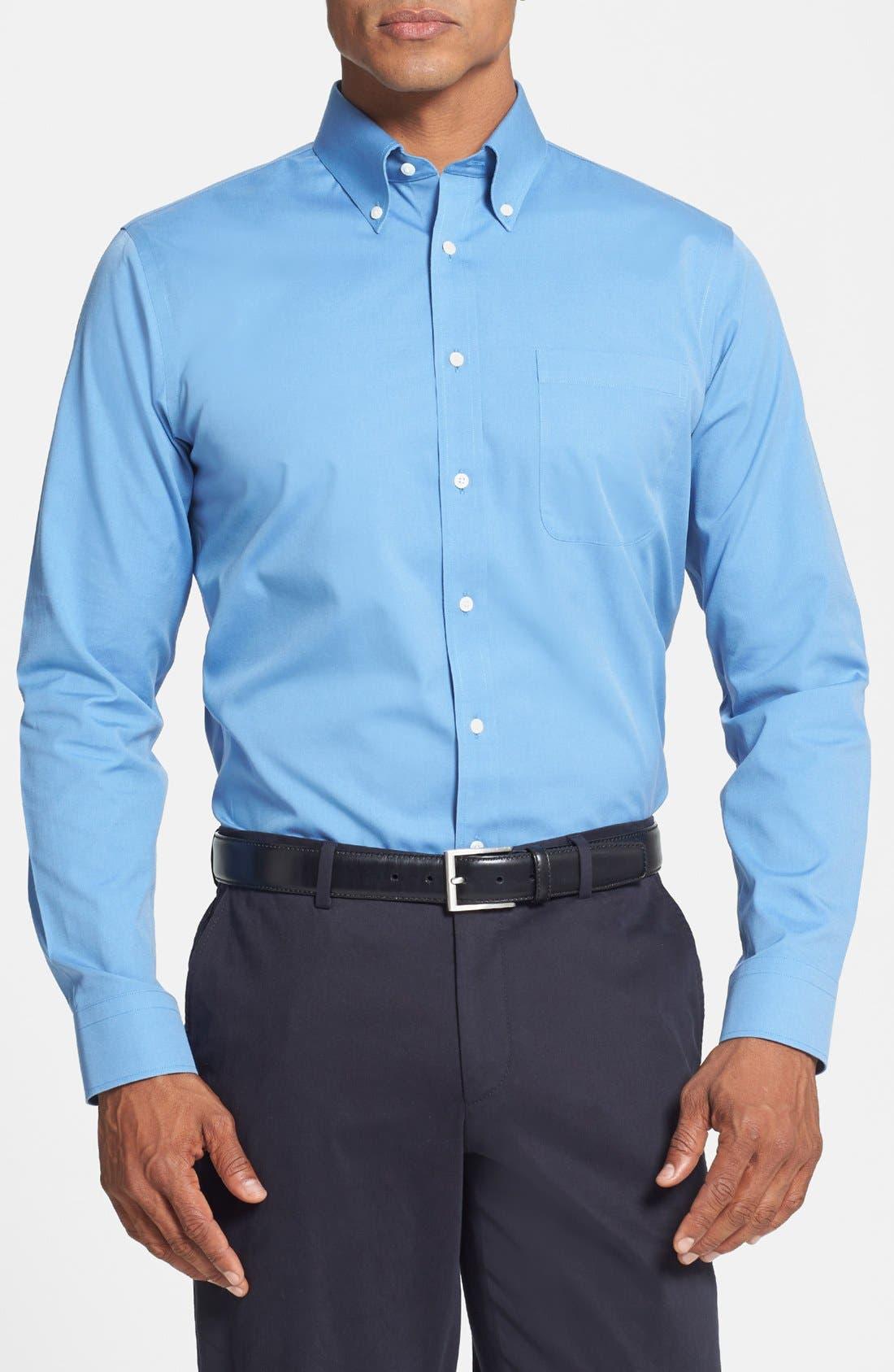 ,                             Smartcare<sup>™</sup> Trim Fit Solid Dress Shirt,                             Main thumbnail 23, color,                             421