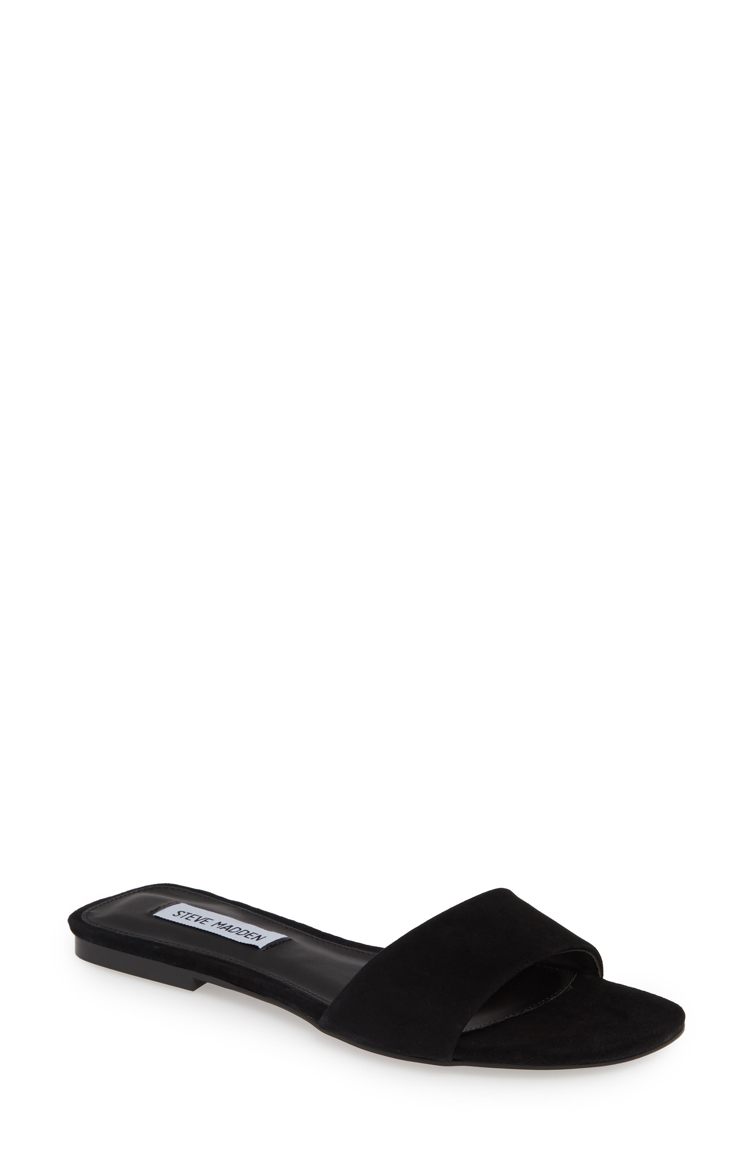 Steve Madden Bev Slide Sandal, Black