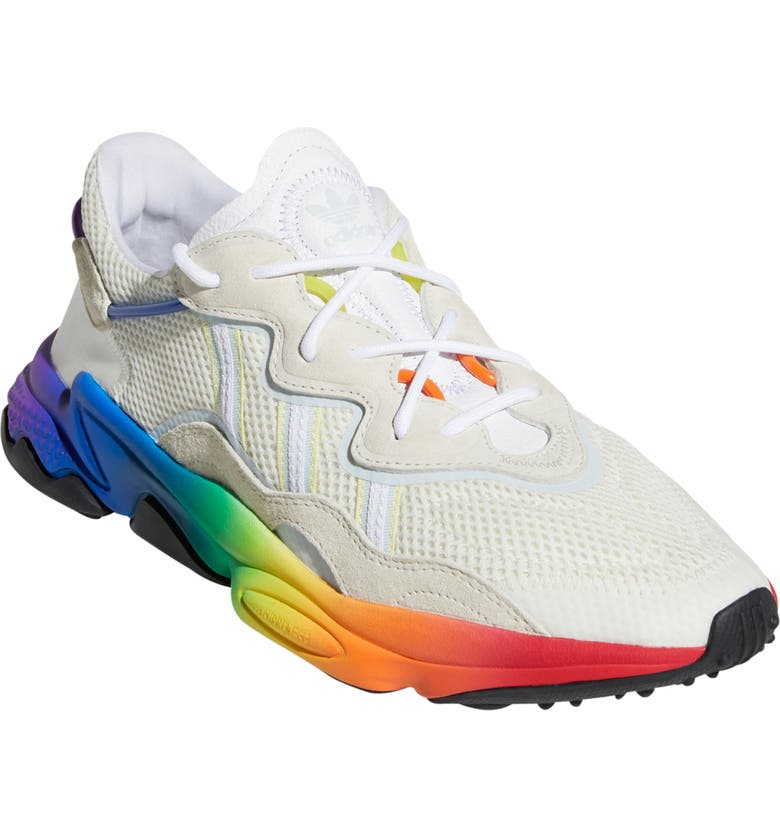 ADIDAS Ozweego Pride Sneaker, Main, color, WHITE/ MULTI