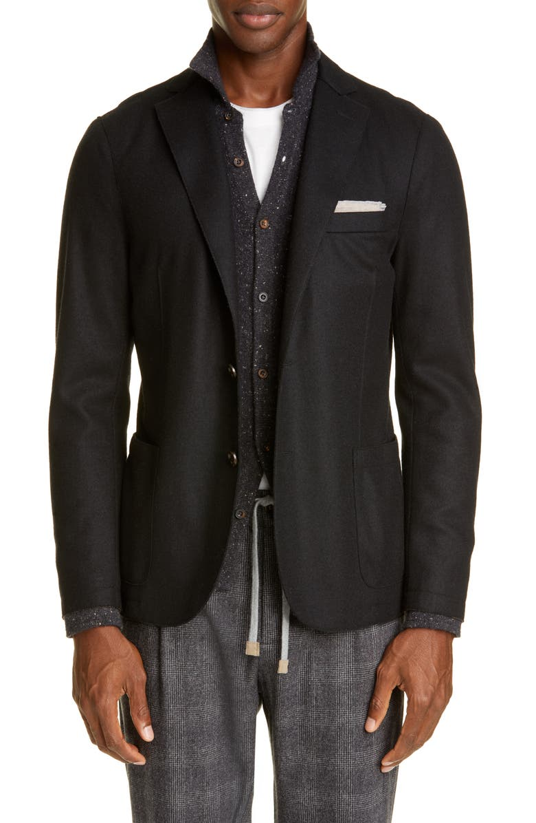 ELEVENTY Slim Fit Wool Blend Sport Coat, Main, color, BLACK