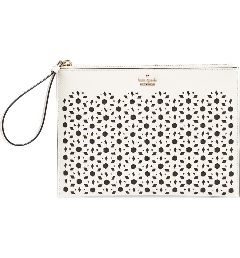 KATE SPADE NEW YORK cameron street - bella leather pouch, Main, color, 100