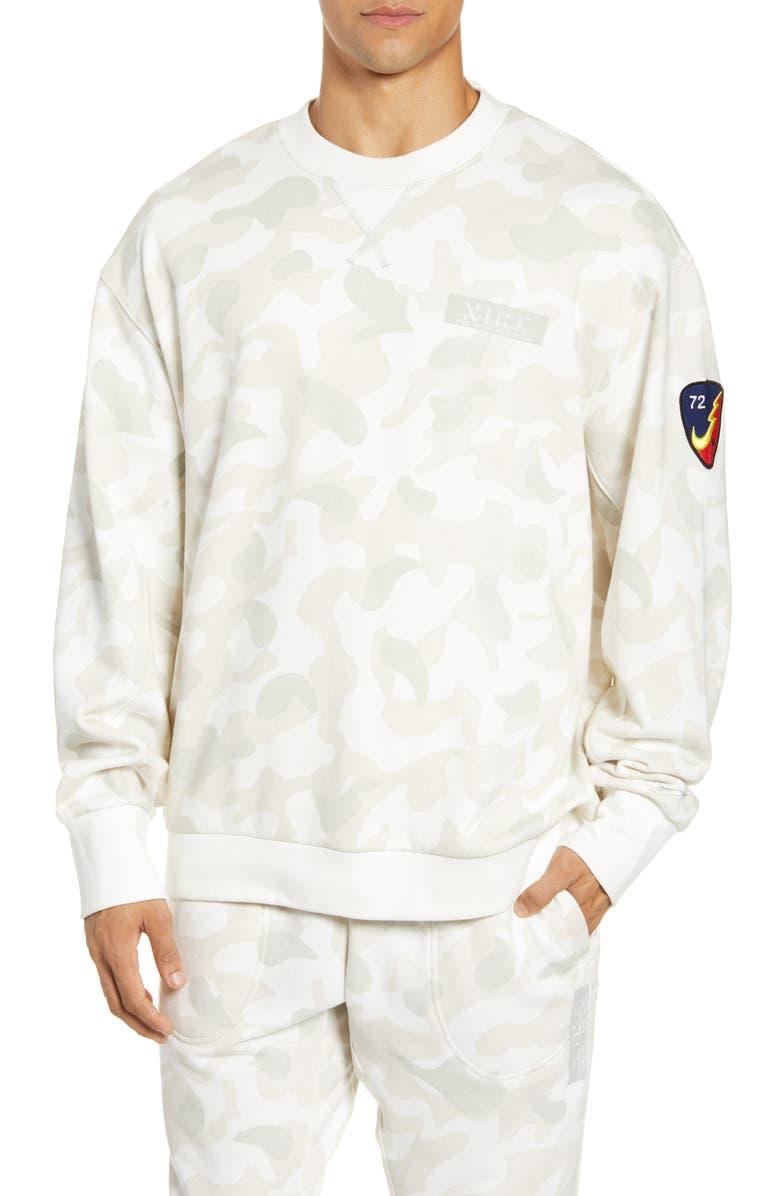 NIKE Sportswear Camo Crewneck Sweatshirt, Main, color, 133