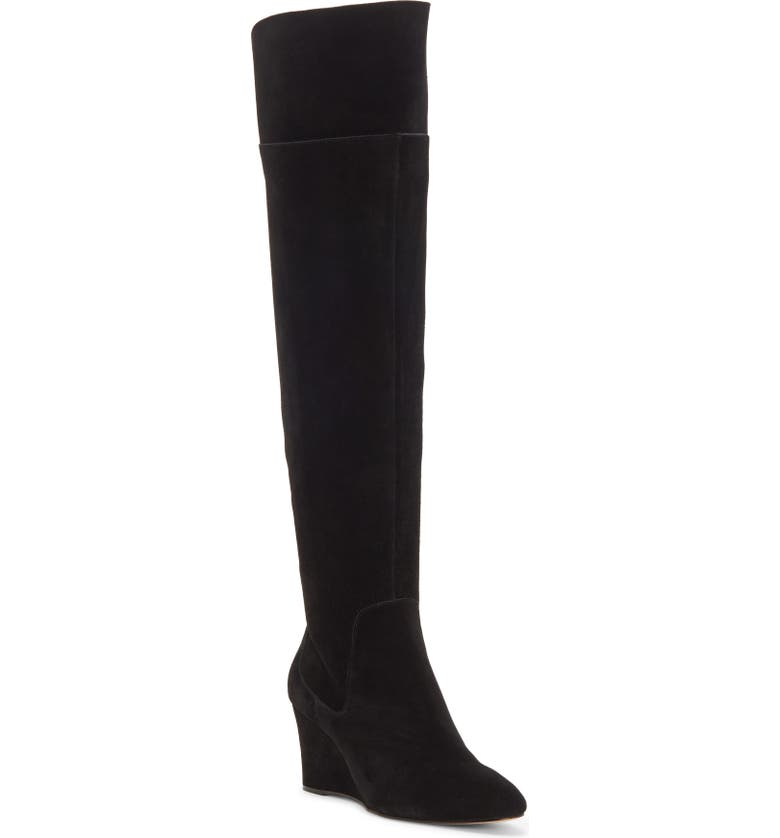 ENZO ANGIOLINI Colitta Over-the-Knee Boot, Main, color, BLACK SUEDE
