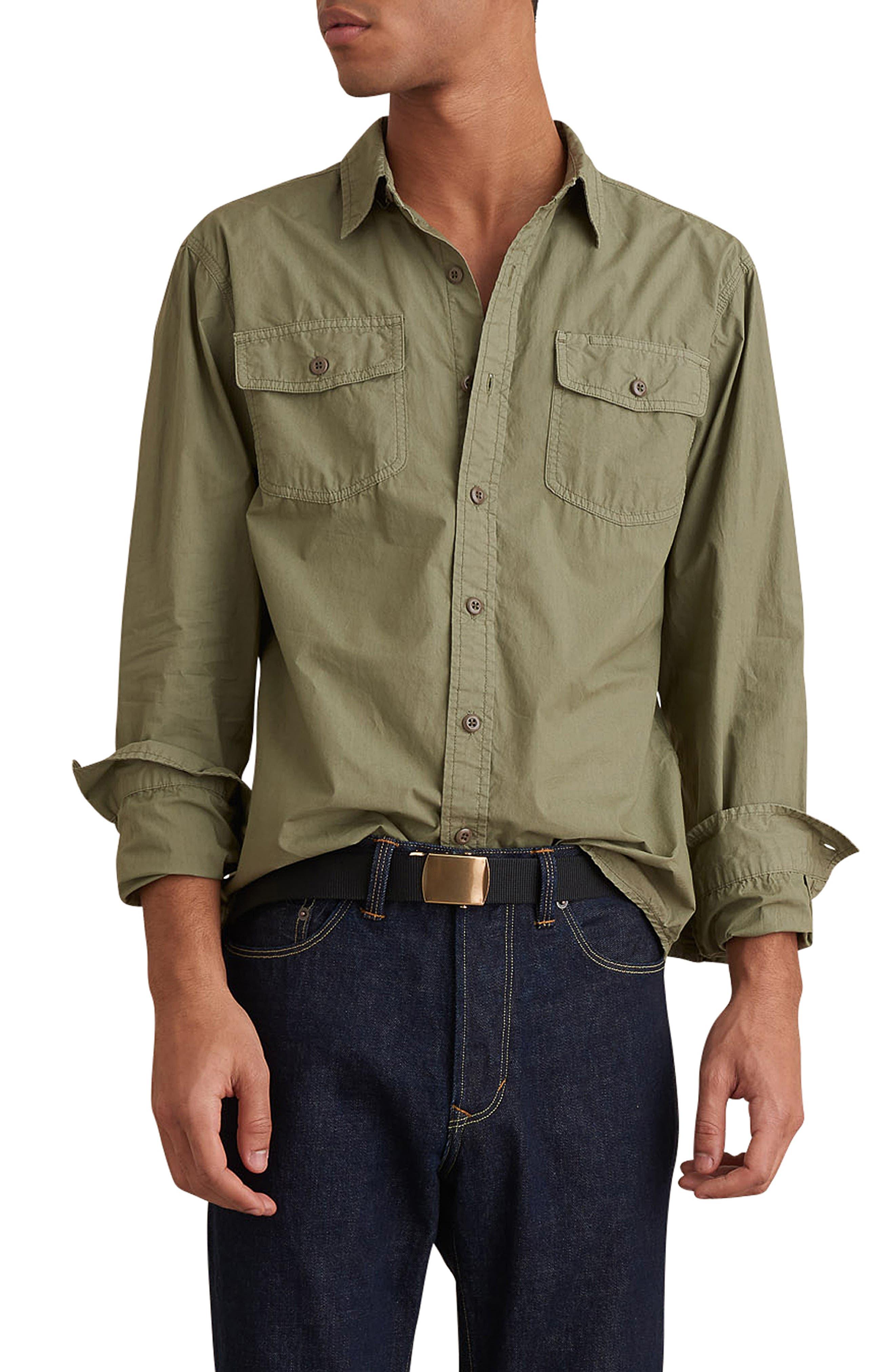 Image of ALEX MILL Garment Dyed Field Regular Fit Shirt