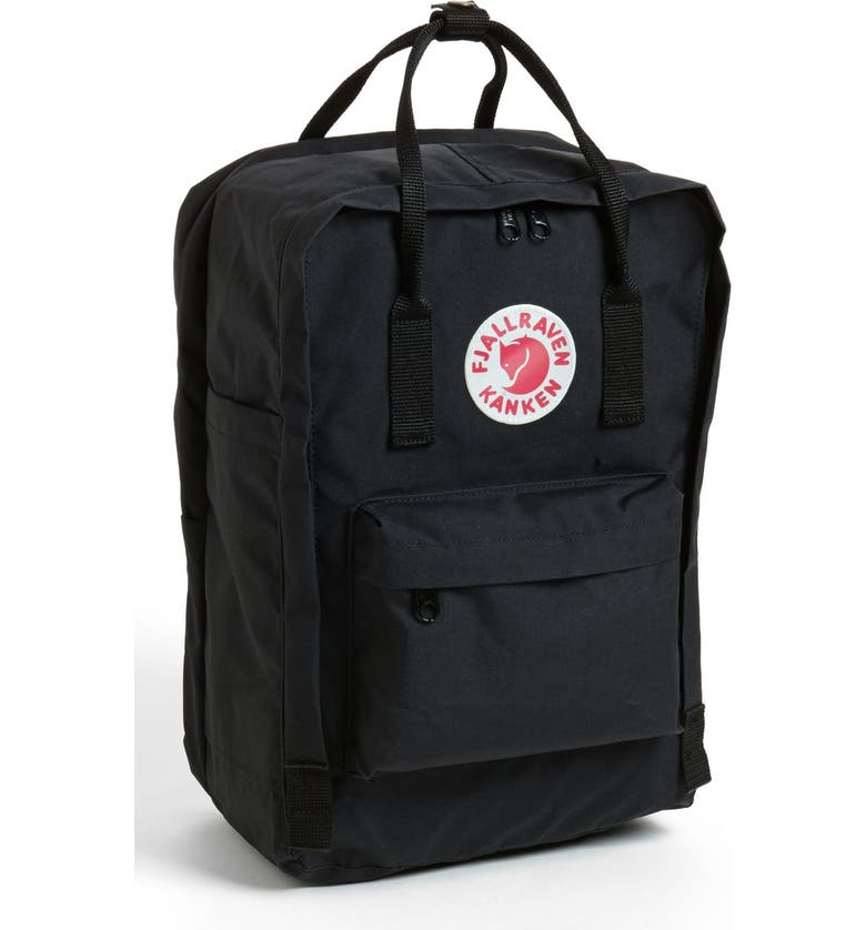 FJÄLLRÄVEN Kånken 15-Inch Laptop Backpack, Main, color, BLACK