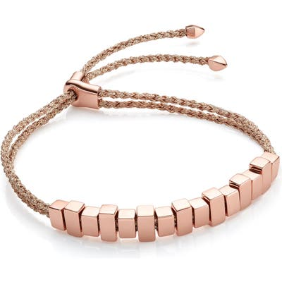 Monica Vinader Linear Ingot Friendship Bracelet