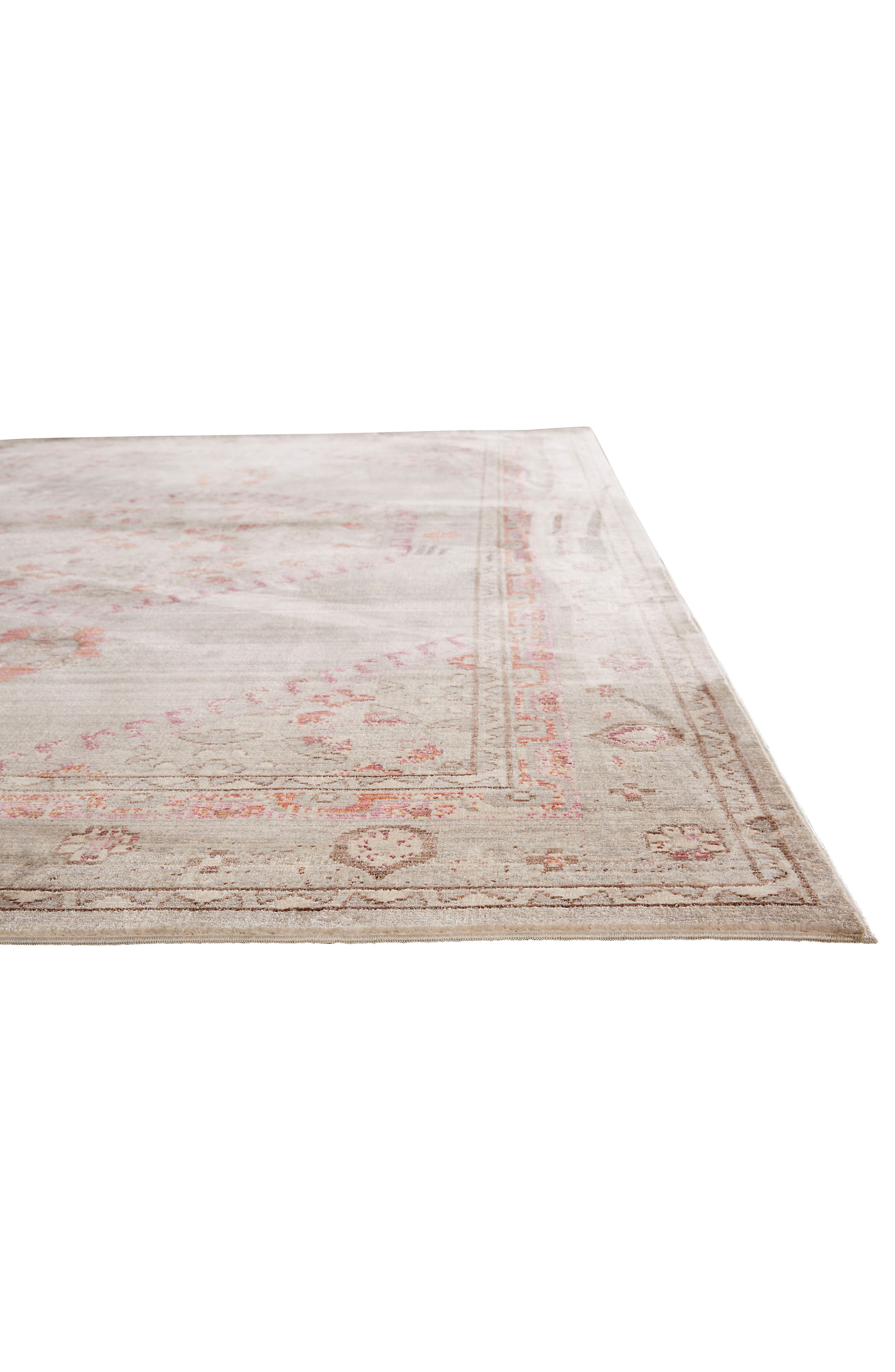 ,                             Contemporary Vintage Rug,                             Alternate thumbnail 3, color,                             PINK/ GREY