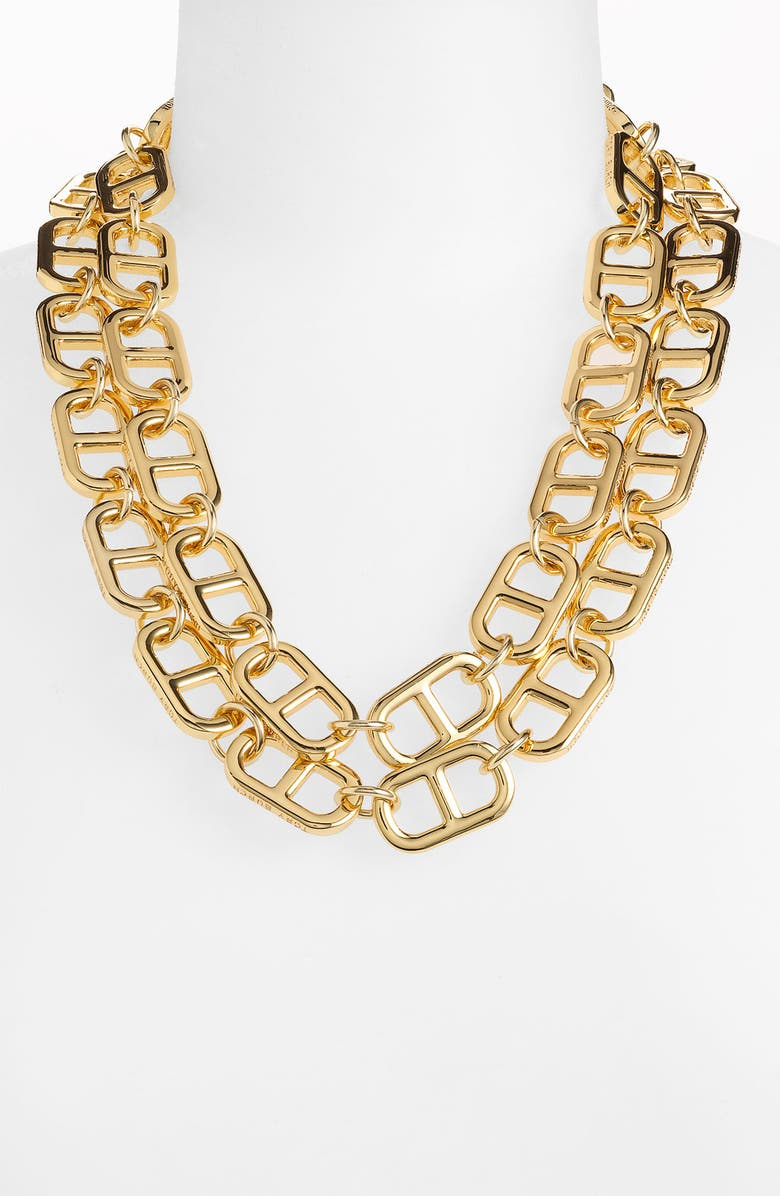 TORY BURCH 'Plato' Double Row Necklace, Main, color, 710