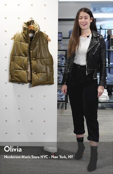 Vegan Leather Puffer Vest, sales video thumbnail