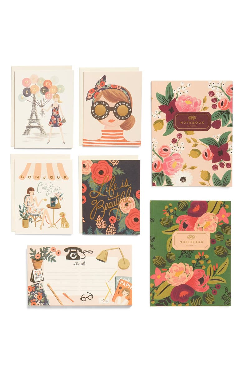 RIFLE PAPER CO. Notebook, Notepad & Note Cards Set, Main, color, 650
