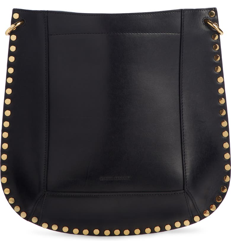 ISABEL MARANT Oskan New Leather Hobo, Main, color, BLACK