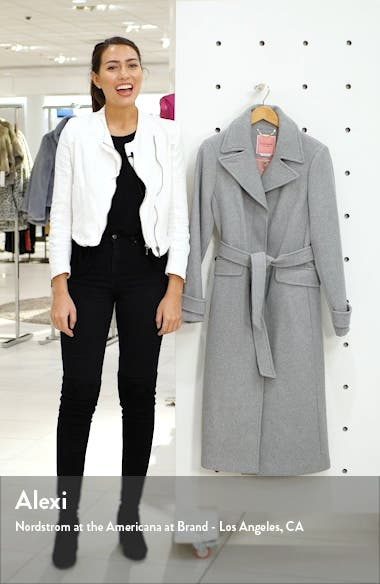 belted wool blend coat, sales video thumbnail