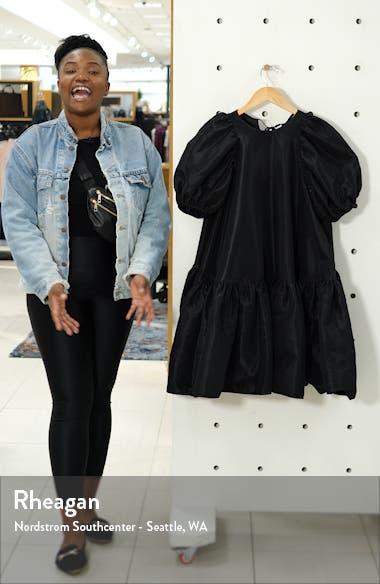 Alexa Puff Sleeve Faille Babydoll Dress, sales video thumbnail