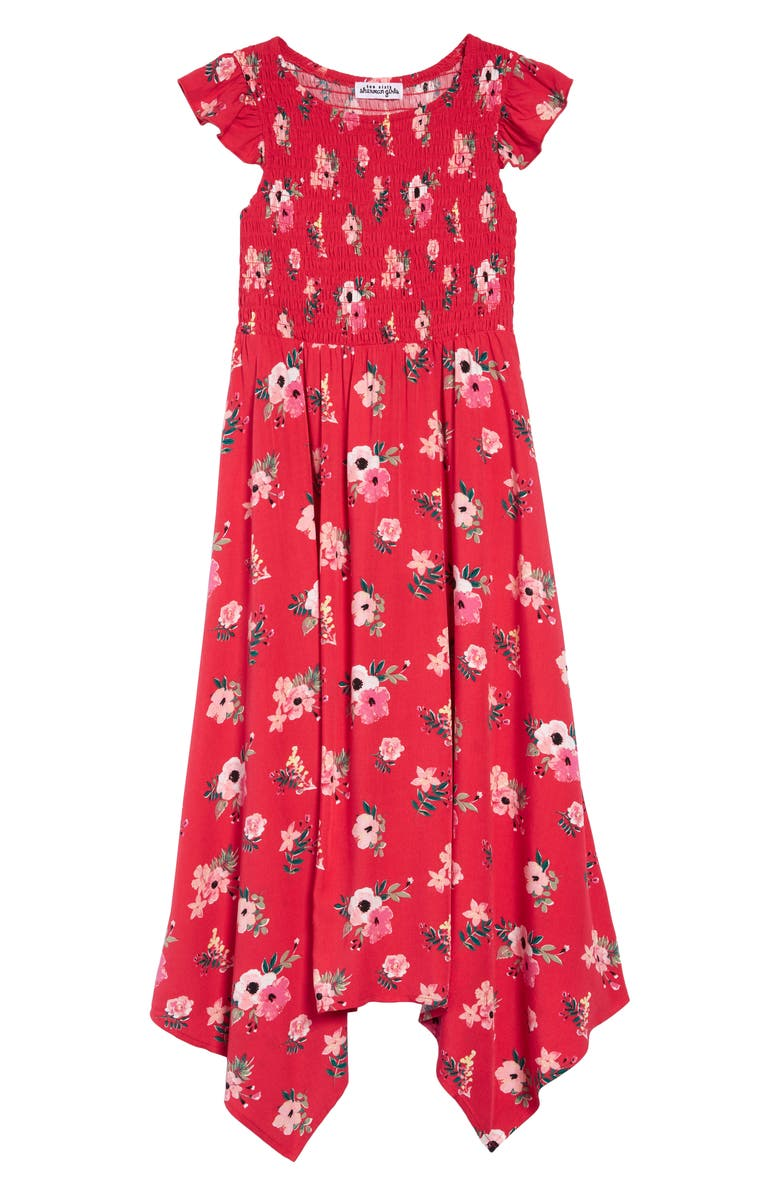 TEN SIXTY SHERMAN Floral Smocked Maxi Dress, Main, color, 600