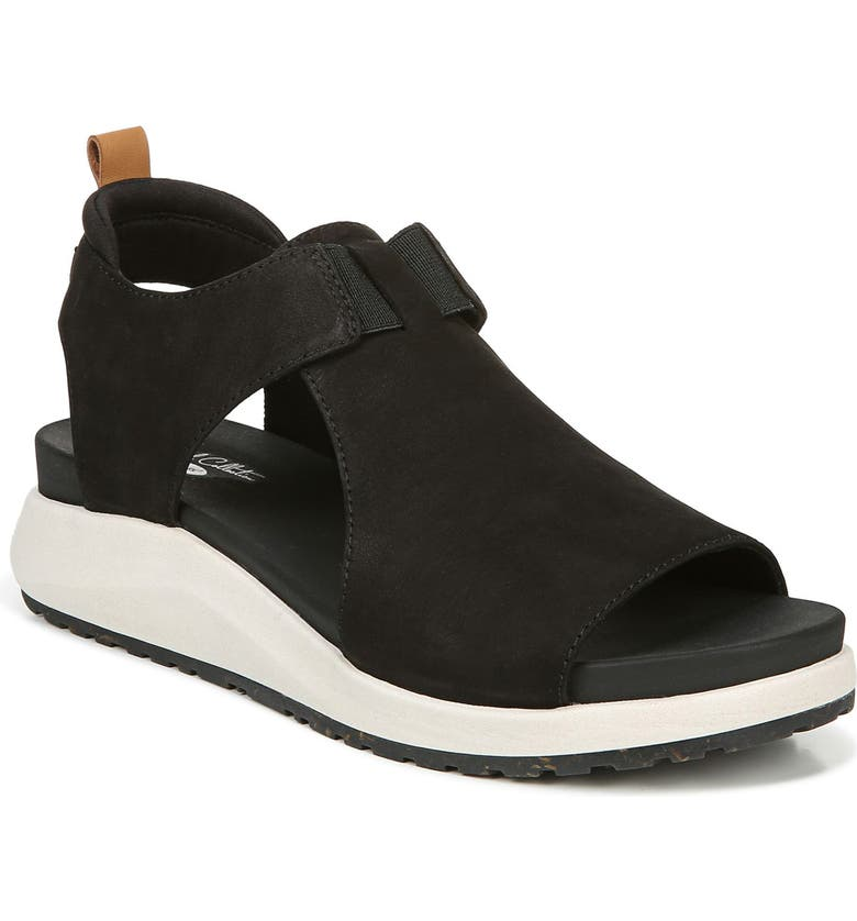 DR. SCHOLL'S Rocco Sandal, Main, color, BLACK LEATHER