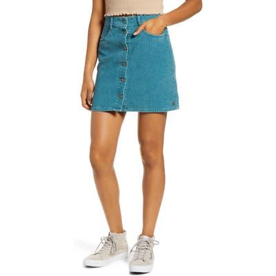 Roxy Unforgettable Fall Corduroy Miniskirt, Blue
