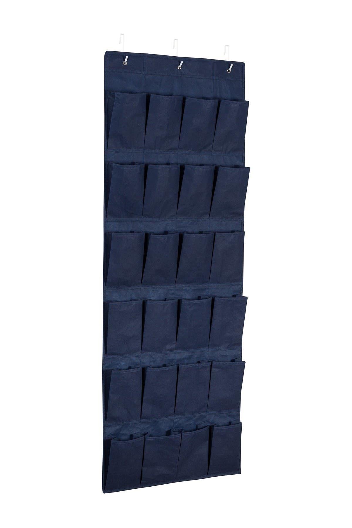 Image of Honey-Can-Do Navy 24-Pocket Over the Door Shoe Organizer