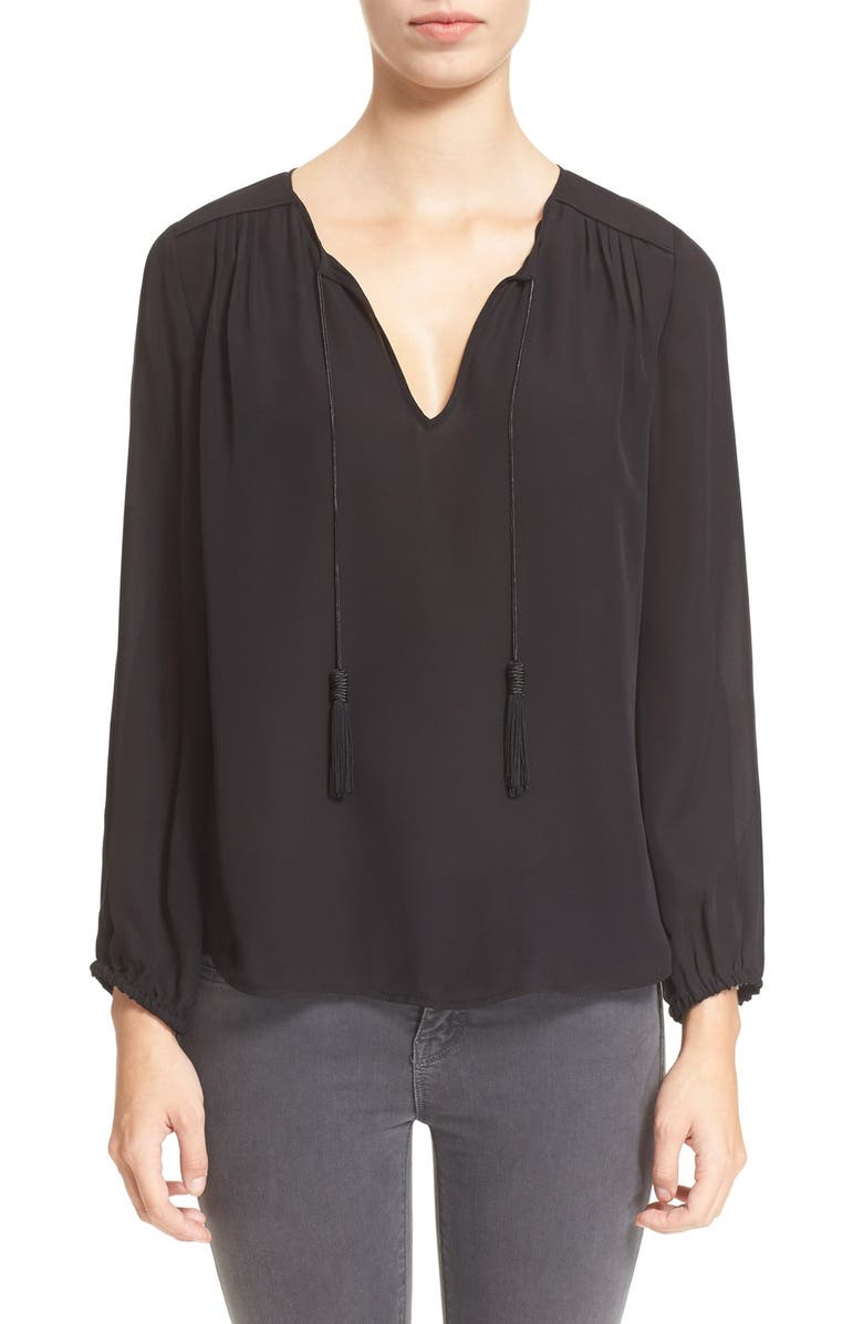 JOIE 'Odelette' Silk Shirt, Main, color, 002