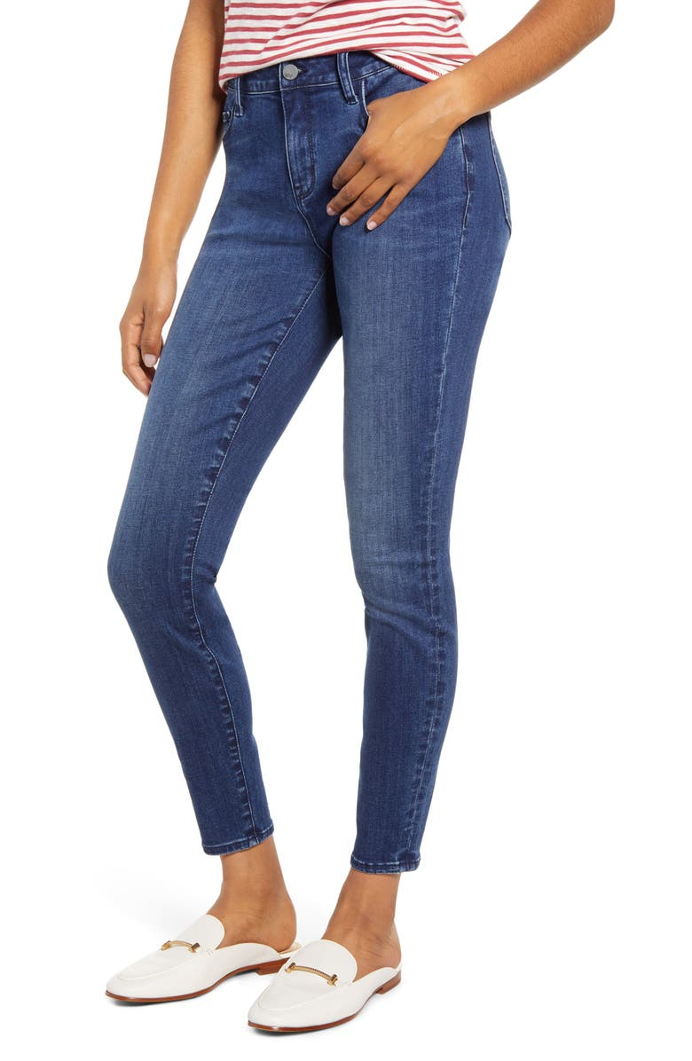 WASH LAB Skinny Jeans, Main, color, AIRFORCE BLUE