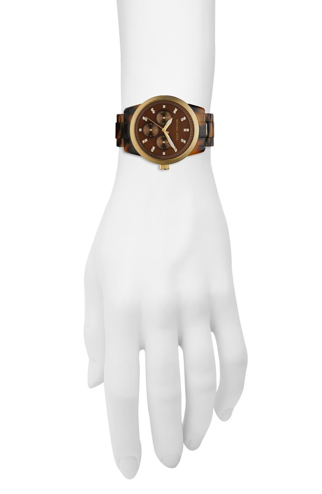 ,                             Michael Kors 'Jet Set' Bracelet Watch, 38mm,                             Alternate thumbnail 4, color,                             TOR