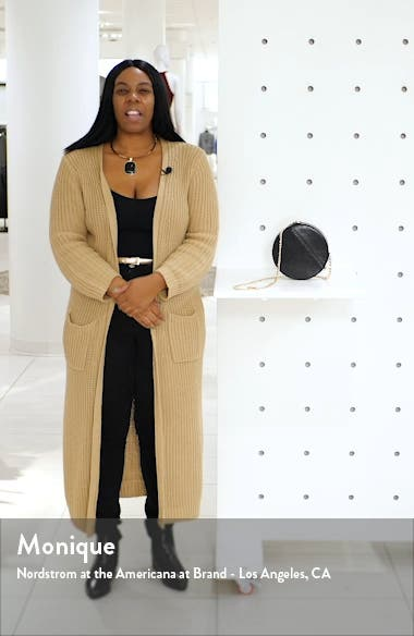 Gee Circle Faux Leather Shoulder Bag, sales video thumbnail