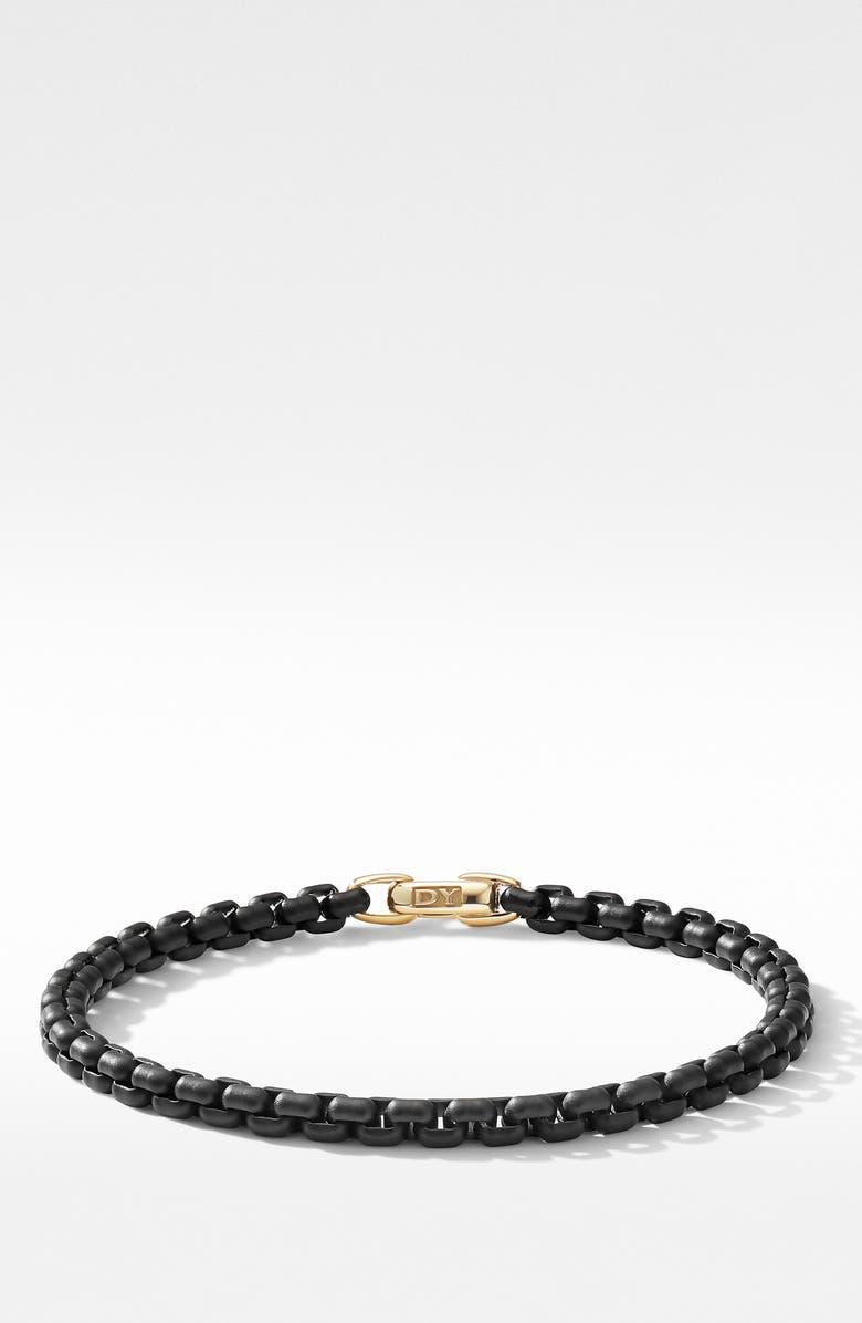 DAVID YURMAN Bel Aire Chain Bracelet, Main, color, GOLD/ BLACK STEEL