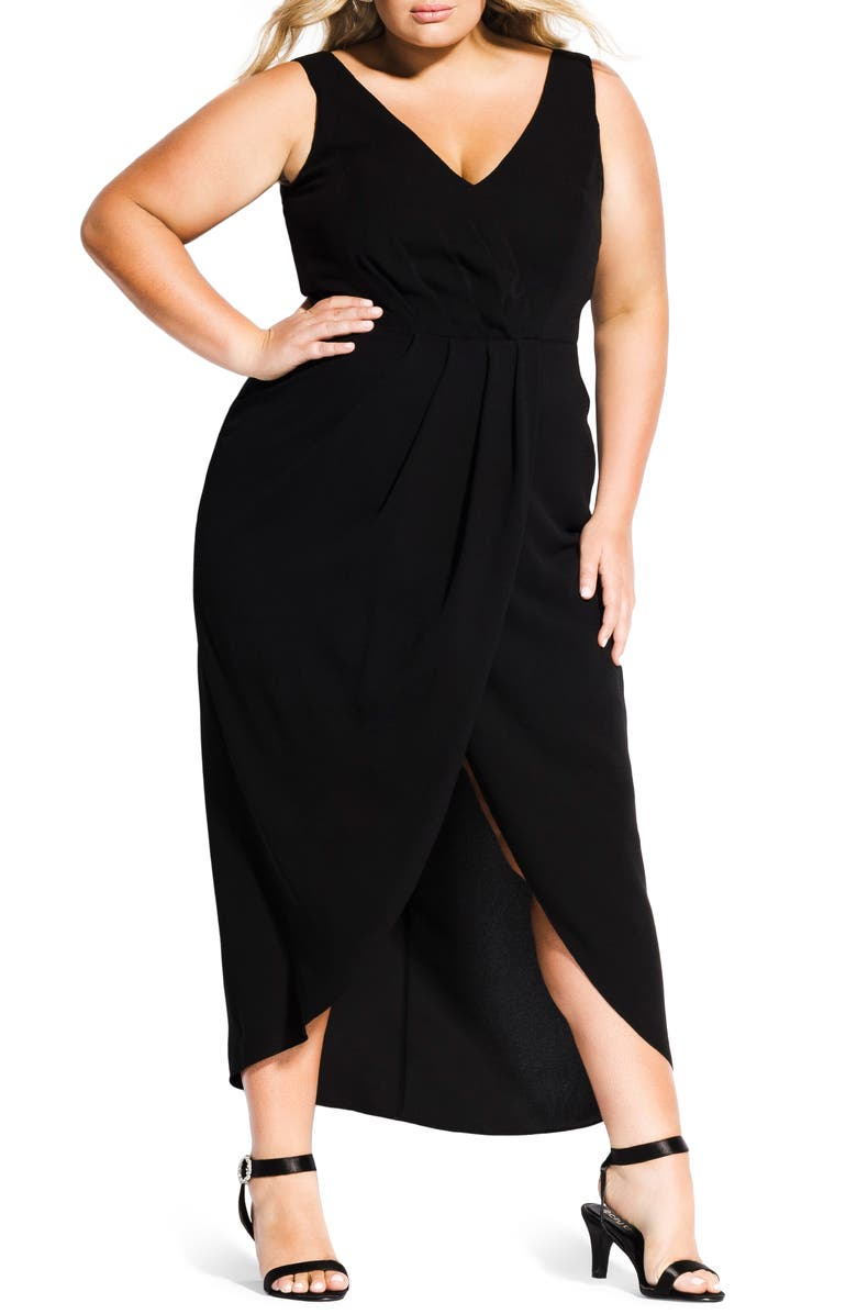 CITY CHIC Cherish Maxi Dress, Main, color, 001