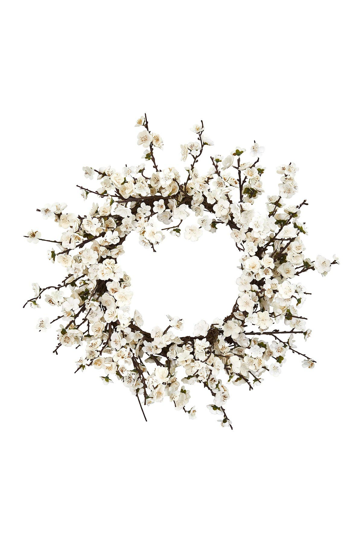 "Nearly Natural Home decors 24"" PLUM BLOSSOM WREATH"