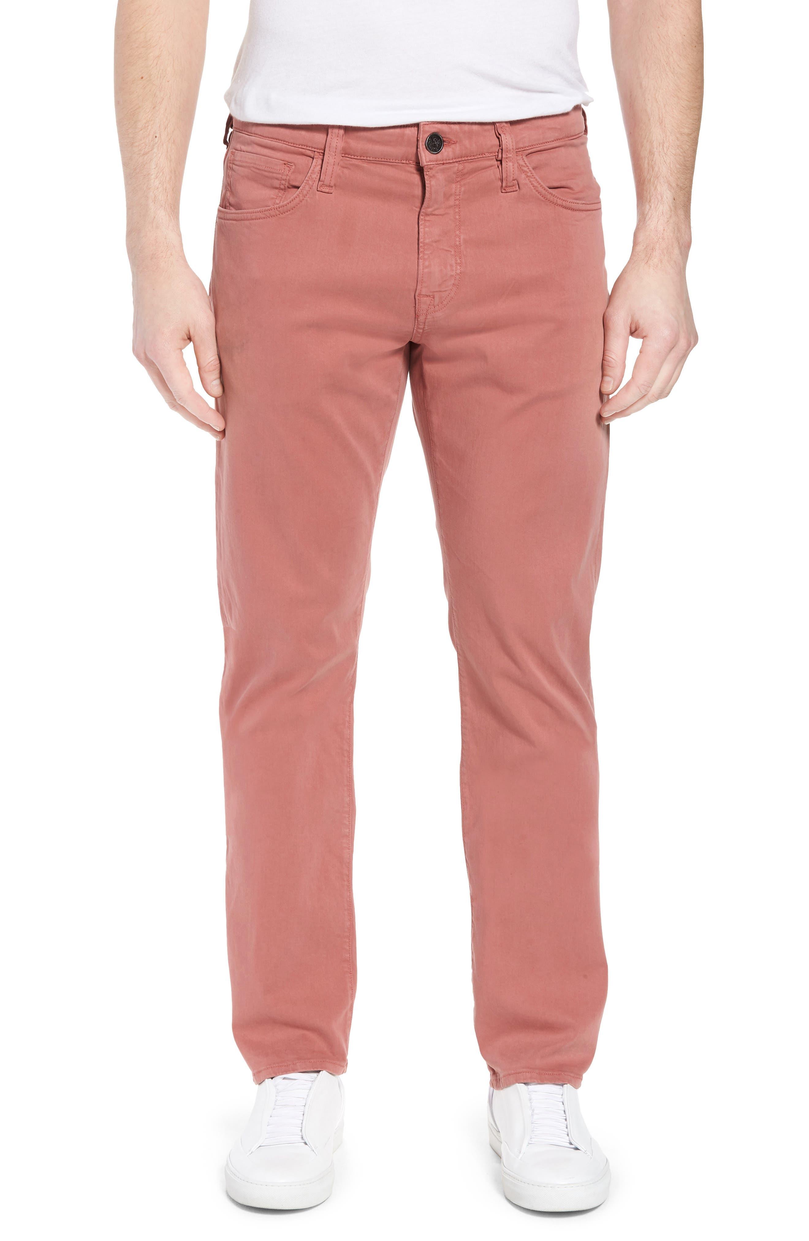 Courage Straight Leg Twill Pants, Main, color, BRICK TWILL