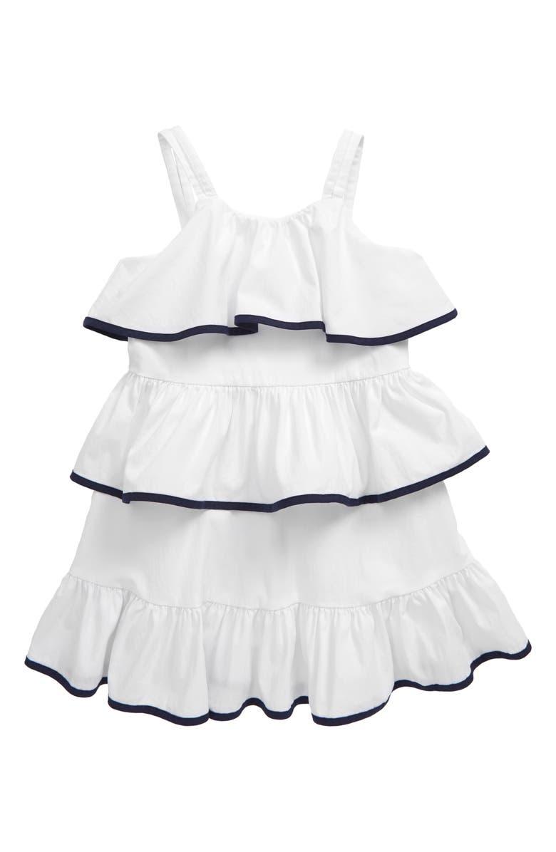 HABITUAL GIRL Habitual Ruffle Tier Dress, Main, color, WHITE