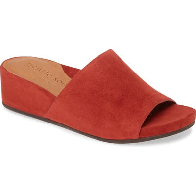 Gentle Souls By Kenneth Cole Gianna Slide Sandal, Red