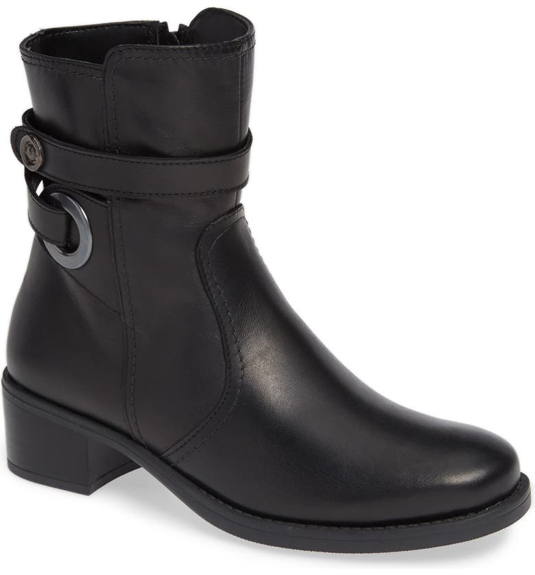 DAVID TATE Java Bootie, Main, color, BLACK LEATHER