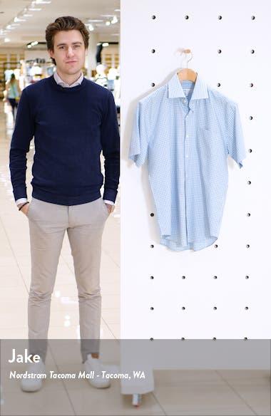 Richards Regular Fit Plaid Short Sleeve Button-Up Shirt, sales video thumbnail