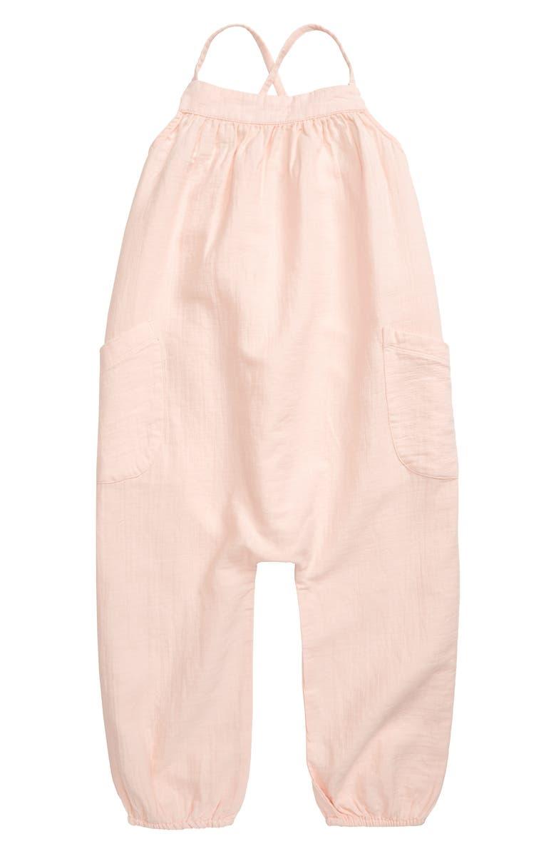 STEM Organic Cotton Jumpsuit, Main, color, PINK CLOUD