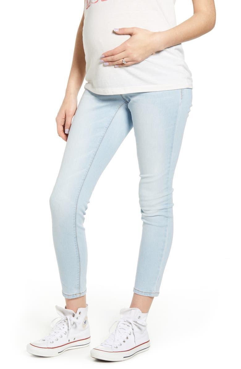 1822 DENIM Re:Denim Ankle Skinny Maternity Jeans, Main, color, SAMMY