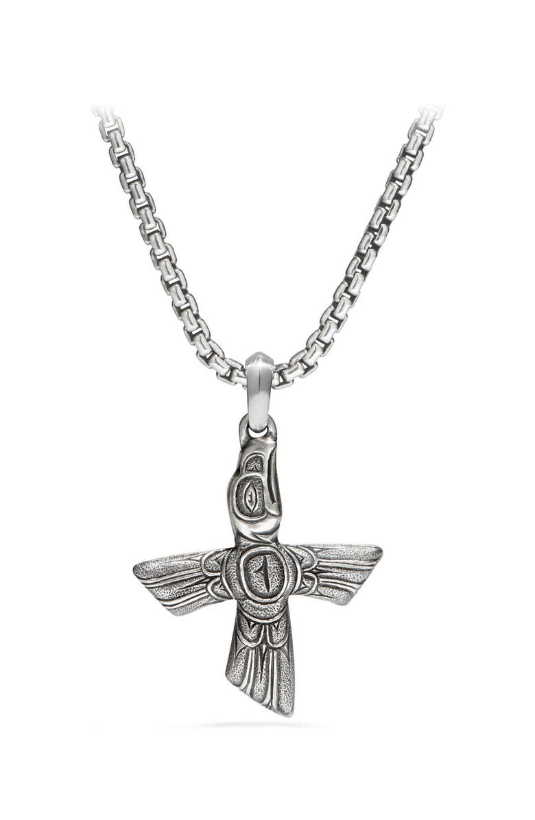 DAVID YURMAN Northwest Bird Amulet, Main, color, SILVER
