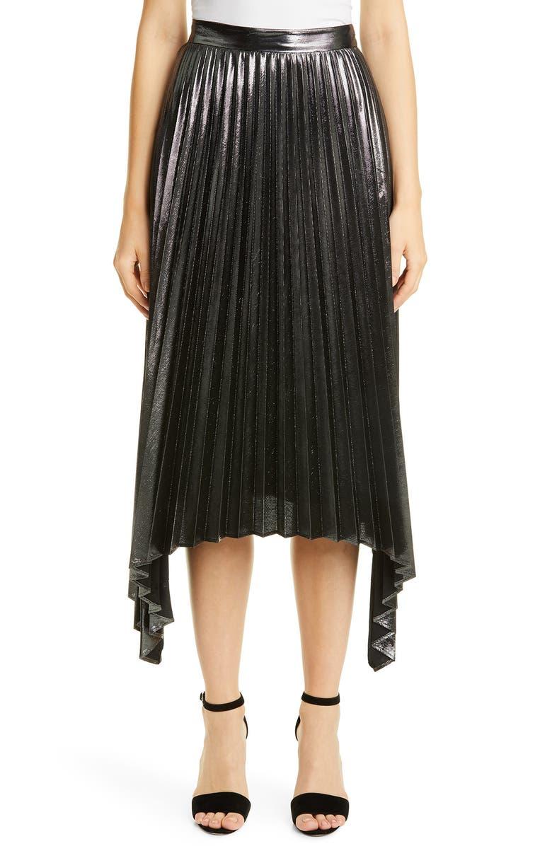ALTUZARRA Pleated Asymmetrical Skirt, Main, color, ANTHRACITE