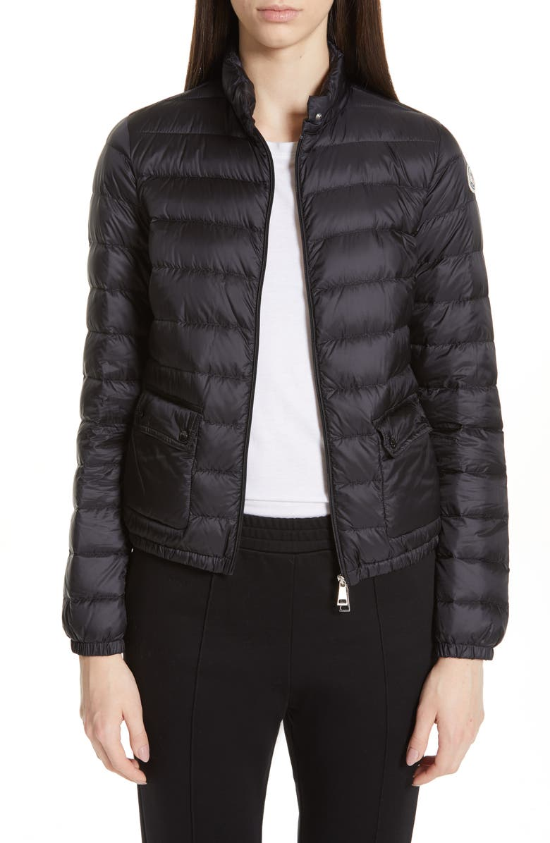 MONCLER Lans Quilted Lightweight Down Jacket, Main, color, BLACK